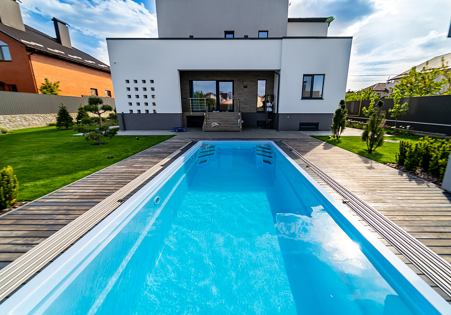 house with outdoor pool